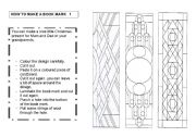 English Worksheets: How to make a book mark  1/3