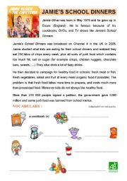 JAMIE OLIVER´S SCHOOL DINNERS (2 pages)