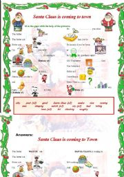 English Worksheet: SANTA CLAUS IS COMING TO TOWN