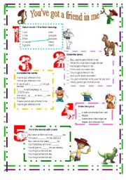 English Worksheet: You�ve got a friend in me- Toy Story