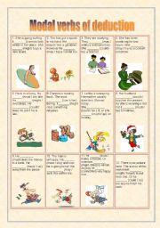 English Worksheet: Modal verbs of deduction
