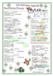 English Worksheet: Christmas carols, Christmas songs