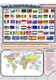 (Flag dictionary)  Flags ,countries,nationalities and languages (part 2)