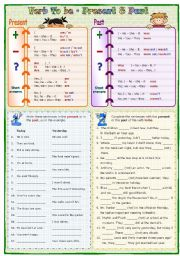 English Worksheet: Verb To be: Present & Past