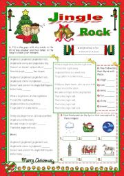 English Worksheet: Christmas Set  (12)  -  Time to sing: