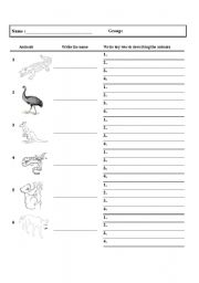 English Worksheets: 6 Australian animals with descriptions