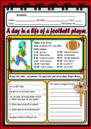 English Worksheets: PERSONAL INFORMATION (2 PAGES)