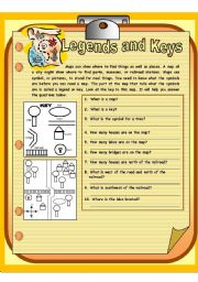 English Worksheets: legends and keys