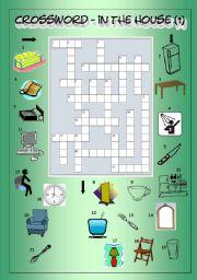 Crossword - In the House 1 (Easy)