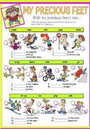 English worksheet: MY PRECIOUS FEET