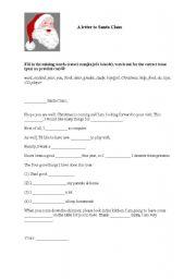 English worksheet: Gap fill: A letter to Santa
