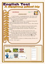 English Worksheets: English Test:(3 Parts) Reading Comprehension/Grammar+Vocabulary /writing(+Answer Key)