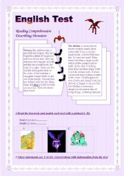English Worksheets: English Test(3 parts) Reading Comprehension/ Grammar + Vocabulary / Writing/ (Answer Key)
