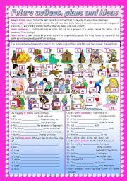 English Worksheet: Future actions, plans and ideas  - 4 future forms (editable)