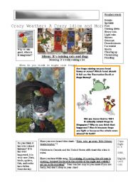 English Worksheets: Raining Cats and Dogs Plus