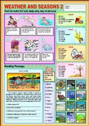 English Worksheet: Weather and seasons 2