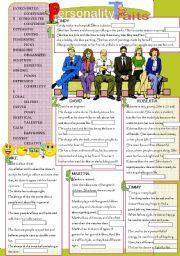 personality traits vocabulary worksheets pdf