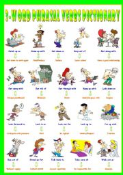 English Worksheets: First series of 3-Word Phrasal Verbs. Pictionary (Part 1/3). Look up to = Admire/respect