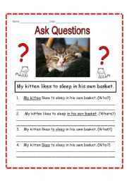 English Worksheets: Question the Answers