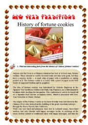 English Worksheet: Chinese New Year fortune cookies