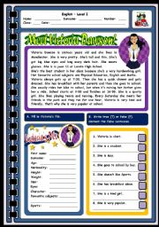 English Worksheets: MEET VICTORIA DAWSON - 2 PAGES