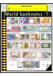 English Worksheet: The most beautiful world Banknotes (1)