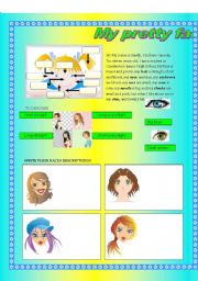 English Worksheets: My pretty face!