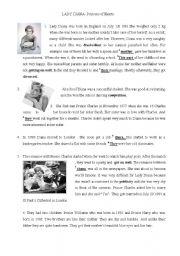 English Worksheets: LADY DIANA- Princess of Hearts