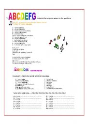 English Worksheet: �A� You�re adorable - song lyrics