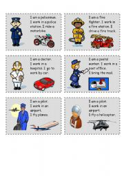 English Worksheets: jobs speaking cards