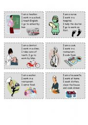English Worksheets: jobs speaking cards (2)