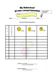 English Worksheets: Behaviour grid!