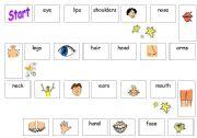 English Worksheet: Body board game