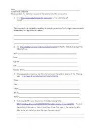 English Worksheets Symbolism In Literature Symbolism In Literature Worksheet English Worksheet Symbolism In Literature