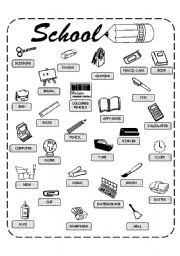 School objects - worksheet by helen_vin