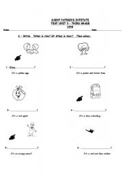 English Worksheets: What is this? Or What is that?