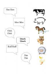 English Worksheets: Animal Noises