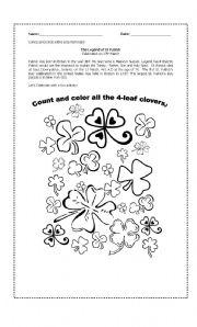 English Worksheets: Saint Patrick activity