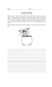 English Worksheets: Saint Patricks
