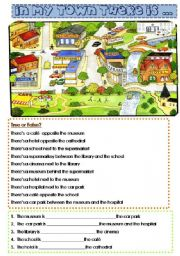 English Worksheets: In my town - giving directions