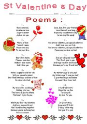 English Worksheet: poems
