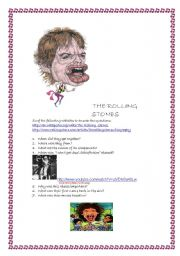 English Worksheets: WEBQUEST on English music, PART 2 ( The Rolling Stones)