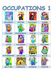 English Worksheets: Occupations 1