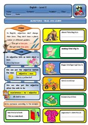 English Worksheets: ADJECTIVES