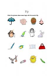 English Worksheets: The sound of P