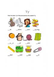 English Worksheets: The sound of Y