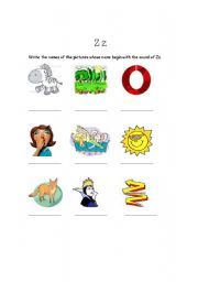 English Worksheets: The sound of Z