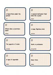 Alphabet game -Letter O