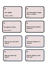 Alphabet game -Letter P