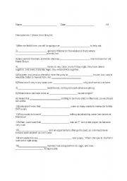 english worksheets homophones there their they re. Black Bedroom Furniture Sets. Home Design Ideas